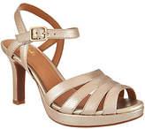 Clarks Artisan Leather High Heel Sandals - Mayra Poppy