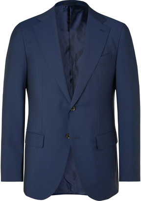 Caruso Navy Aida Slim-Fit Wool And Mohair-Blend Suit Jacket