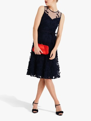 Phase Eight Kenzie Fit And Flare Dress, Navy