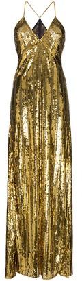 Galvan sequin-embellished long dress
