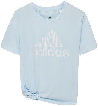 adidas Knotted Printed Stretch-jersey T-shirt