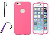Sapphire New [Pink] Iphone 6 (Wrap-up) Screen Window Cover Protector Case with Two Stylus Pens
