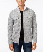 Tasso Elba Men's Zip Front Textured Jacket, Only at Macy's