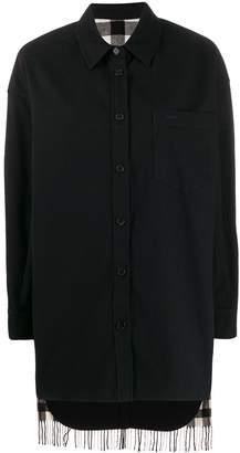 Juun.J boxy fit check patterned shirt