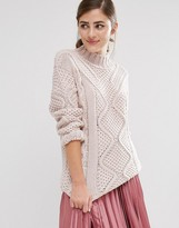 Fashion Union Roll Neck Knitted Sweater