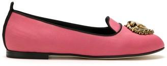Dolce & Gabbana Moire Devotion ballerina shoes