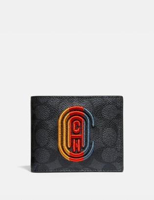 Coach 3-In-1 Wallet In Signature Canvas With Patch