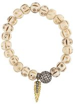 Loree Rodkin beaded diamond charm bracelet