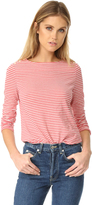 Rebecca Taylor Long Sleeve Striped Tee