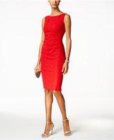 Jessica Howard Sleeveless Ruched Sheath Dress