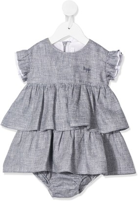 Il Gufo Tiered Short Sleeved Dress