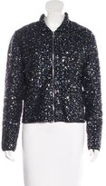 Pink Tartan Embellished Knit Jacket w/ Tags
