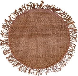 Cocco Round Handmade Jute Rug W/ Fringes