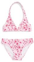 Oscar de la Renta Girl's Floral Two-Piece Swimsuit