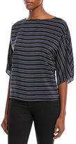 Michael Kors Pajama-Striped Tunic Top