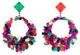 Erickson Beamon Neon Crystal Hoop Earrings