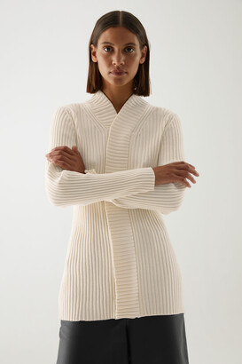 Cos Organic Cotton Chenille Cardigan