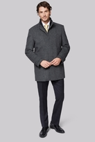 Moss Bros Tailored Fit Grey Diagonal Insert Coat