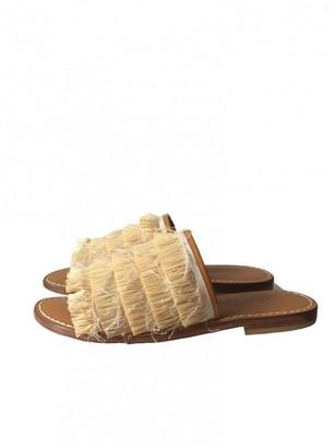 Max Mara Weekend Beige Cloth Sandals