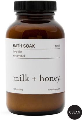 Milk + Honey Bath Soak No.08 (Lavender & Eucalyptus), 10 oz. / 283g