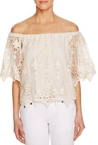 Jens Pirate Booty Peach Blossom Off-The-Shoulder Top