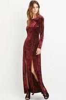 Forever 21 FOREVER 21+ Contemporary Crushed Velvet Maxi Dress
