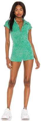 Frankie's Bikinis Rose Terry Lurex Romper