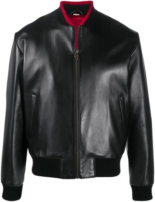 Gucci Lambskin Leather Bomber Jacket