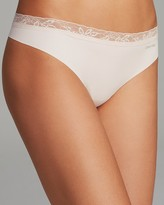 Calvin Klein Invisibles with Lace Thong #D3517