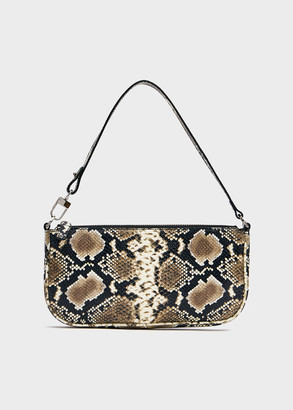 BY FAR Women's Rachel Bag In Snake Print | Leather