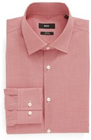 BOSS Slim Fit Easy Iron Houndstooth Dress Shirt