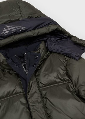 Emporio Armani Quilted Nylon Jacket With Hood