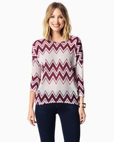 Charming charlie Graphic Chevron Sweater