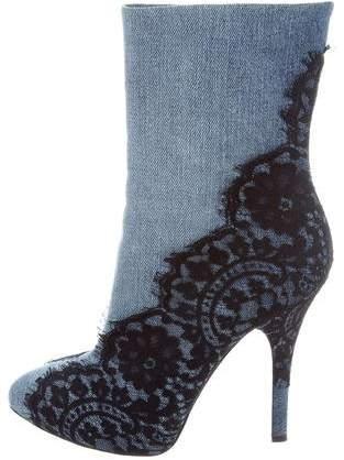 Dolce & Gabbana Denim Lace Boots