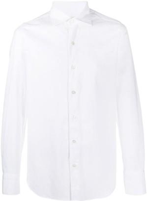 Finamore 1925 Napoli Pointed Collar Cotton Shirt