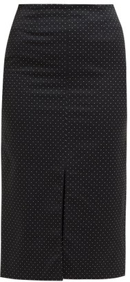 Erdem Retta Polka-dot Cotton-blend Pencil Skirt - Black White