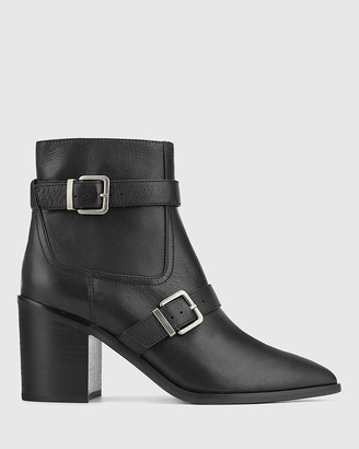 Wittner - Women's Black Ankle Boots - Pecola Leather Block Heel Ankle Boots - Size One Size, 39 at The Iconic