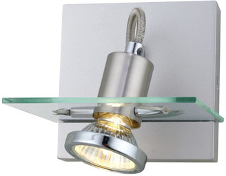 Eglo Usa Track Wall Light With Matte Nickel Finish