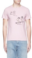 Remi Relief 'Praying Skateboarder' print cotton T-shirt