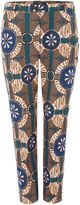 Max Mara Weekend ONDINA slim fit printed cotton stretch trouser