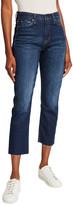 Hudson Holly High-Rise Crop Straight-Leg Jeans