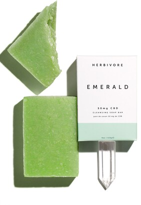 Herbivore Botanicals Emerald CBD Cleansing Soap Bar