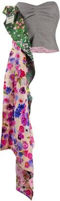 Natasha Zinko Floral Draped Detail Bustier Top