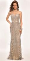 Jovani Divided Sequined Pattern Evening Dress