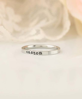 Designs By Karamarie Designs by KaraMarie Women's Rings customer - Stainless Steel Personalized Name Ring