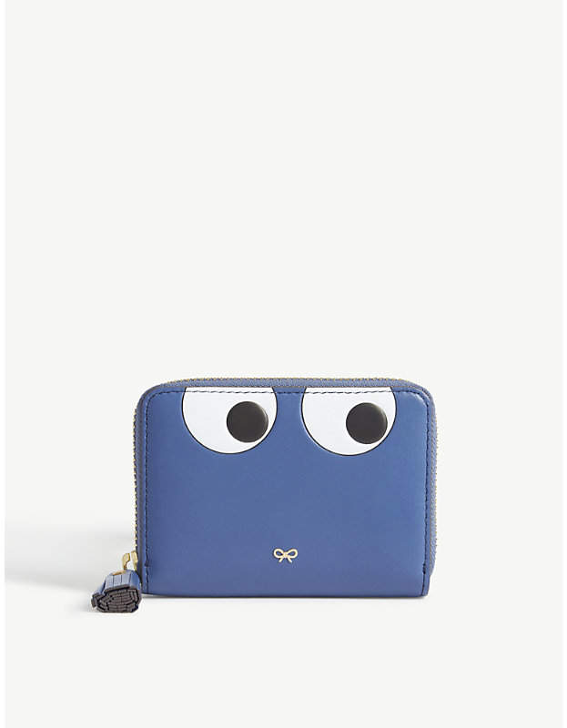 Anya Hindmarch Cartoon eyes leather wallet