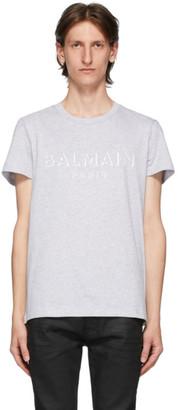 Balmain Grey 3D Logo T-Shirt