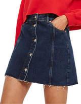 Topshop PETITE MOTO Button-Through Mini Skirt
