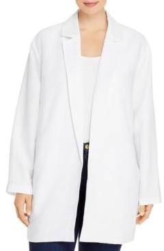 Eileen Fisher Plus Size Organic Open-Front Blazer