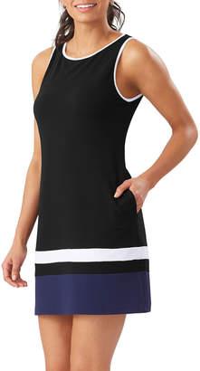 Tommy Bahama Colorblock High-Neck Spa Dress